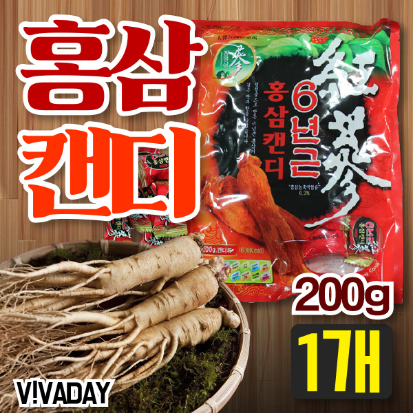 [★★] 6년근 홍삼캔디 200g 1개